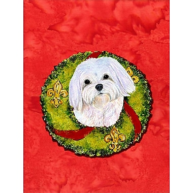 Caroline's Treasures 2-Sided Garden Flag; maltese 2