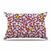 East Urban Home Setsu Egawa 'Cherry Blossom And Butterfly' Pillow Case
