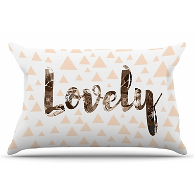 East Urban Home Suzanne Carter 'Lovely' Digital Pillow Case