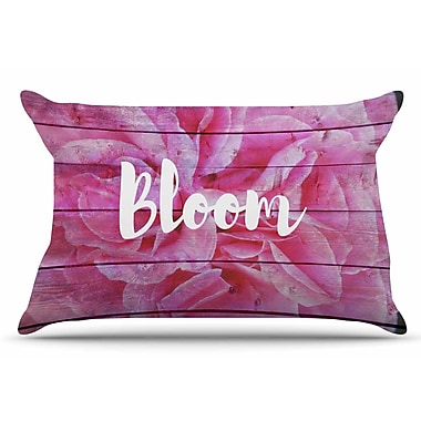 East Urban Home Suzanne Carter 'Bloom Typography' Floral Pillow Case