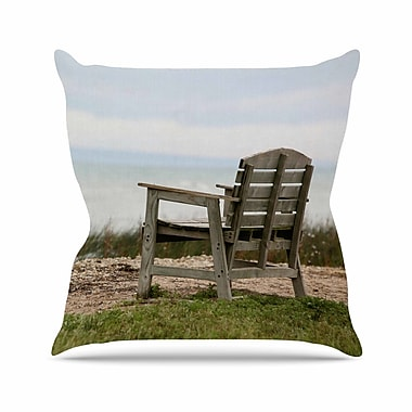 East Urban Home Angie Turner Beach Bench Outdoor Throw Pillow; 16'' H x 16'' W x 5'' D