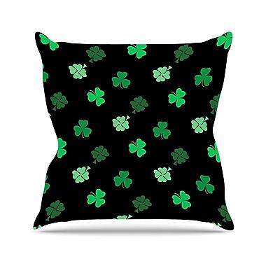 East Urban Home NL Designs Shamrocks Holiday Outdoor Throw Pillow; 16'' H x 16'' W x 5'' D