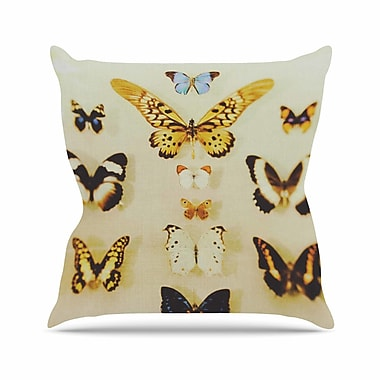 East Urban Home Chelsea Victoria the Butterfly Collection Photography Outdoor Throw Pillow