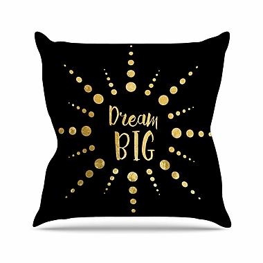 East Urban Home NL Designs Dream Big Outdoor Throw Pillow; 16'' H x 16'' W x 5'' D