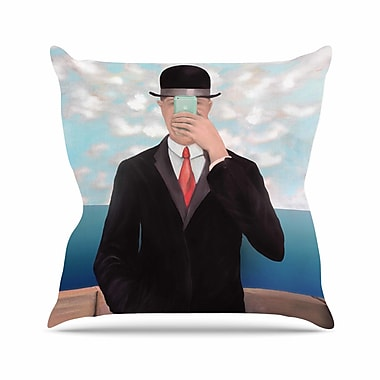 East Urban Home Theresa Giolzetti the Son of Apple Outdoor Throw Pillow; 16'' H x 16'' W x 5'' D