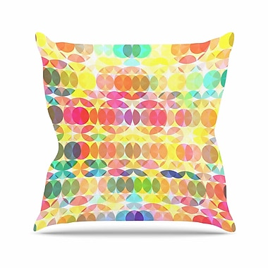East Urban Home Fimbis SercuelarToo Geometric Circles Outdoor Throw Pillow; 16'' H x 16'' W x 5'' D