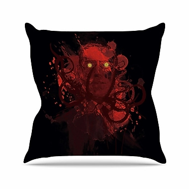 East Urban Home Frederic Levy-Hadida Miskatoninked Outdoor Throw Pillow; 16'' H x 16'' W x 5'' D