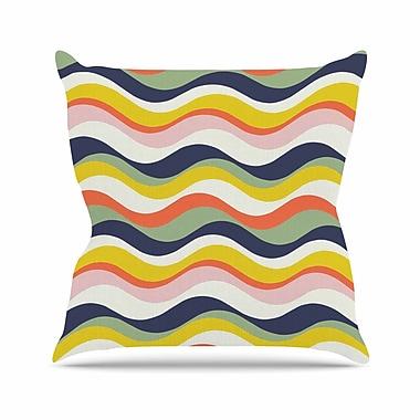 East Urban Home Gukuuki Rainbow Stripes Stripe Outdoor Throw Pillow; 18'' H x 18'' W x 5'' D