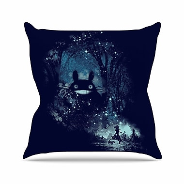 East Urban Home Frederic Levy-Hadida The Big Friend Fantasy Outdoor Throw Pillow