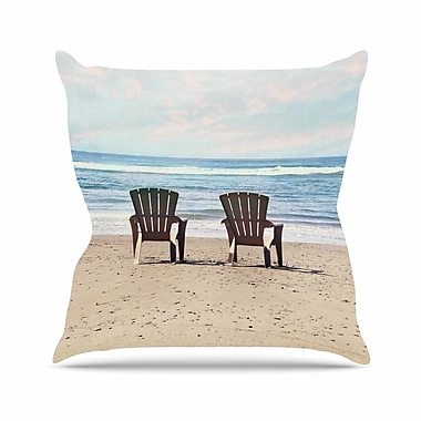 East Urban Home Sylvia Cook a Great View Travel Outdoor Throw Pillow; 16'' H x 16'' W x 5'' D