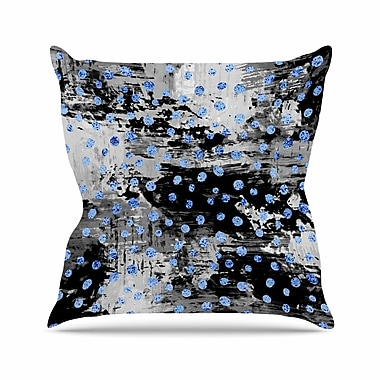 East Urban Home Vasare Nar Moon Polka Dot Art Deco Abstract Outdoor Throw Pillow