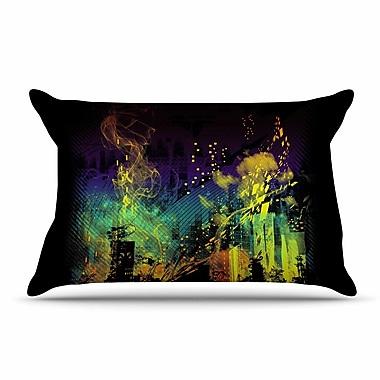 East Urban Home Federic Levy-Hadida 'City Grid' Rainbow Pillow Case