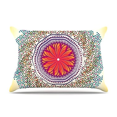 East Urban Home Famenxt 'Confetti Dots Mandala' Abstract Pillow Case