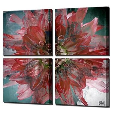 Latitude Run 'Painted Petals XXXI' 4 Piece Graphic Art on Canvas Set (Set of 4)