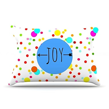 East Urban Home Sreetama Ray 'Oh Joy' Rainbow Pillow Case