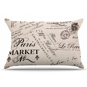 East Urban Home Sylvia Cook 'French Script' Handwriting Pillow Case