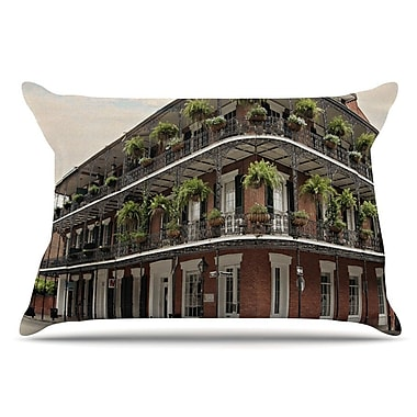East Urban Home Sylvia Cook 'New Orleans Street Corner' Pillow Case