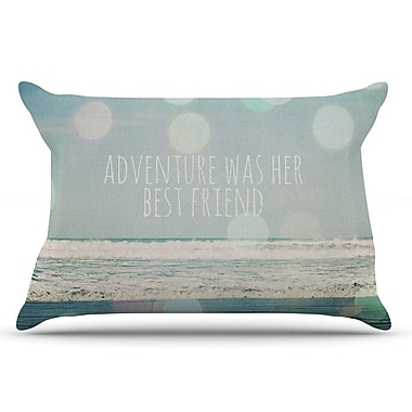 East Urban Home Susannah Tucker 'Adventure Was Her Best Friend' Pillow Case