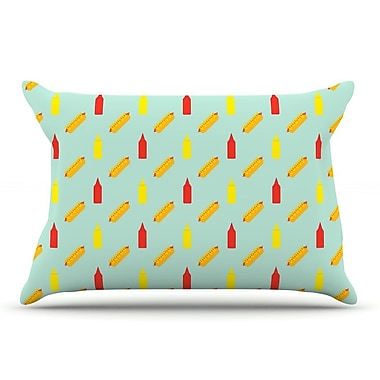 East Urban Home Will Wild 'Hot Dog Ii' Food Pillow Case