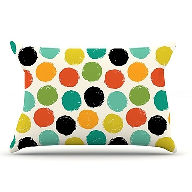East Urban Home Daisy Beatrice 'Retro Dots Repeat' Pillow Case