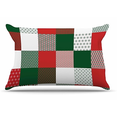East Urban Home Carolyn Greifeld 'Holiday Patchwork' Pillow Case