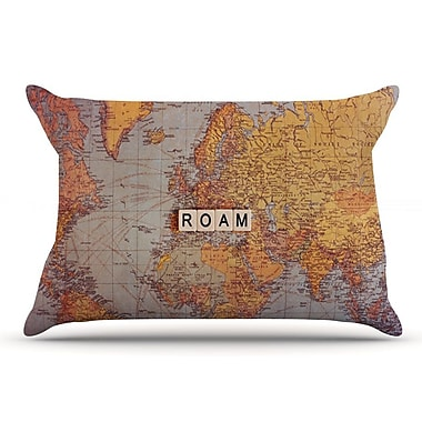 East Urban Home Sylvia Cook 'Roam Map' World Pillow Case