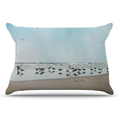 East Urban Home Sylvia Cook 'Sea Blue' Coastal Pillow Case