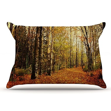 East Urban Home Sylvia Cook 'Autumn Leaves' Rustic Pillow Case