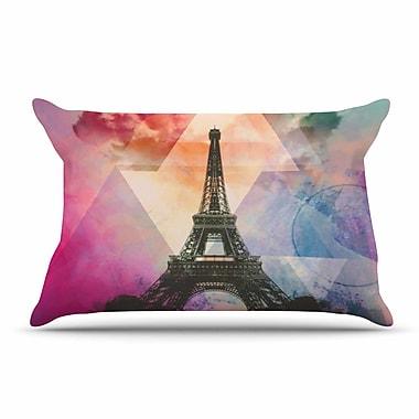 East Urban Home alyZen Moonshadow 'Eiffel Tower' France Pillow Case