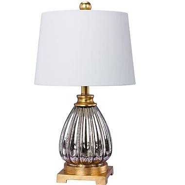 Everly Quinn Alaraph Glass & Resin 23'' Table Lamp