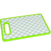 Home Basics Plastic Geometric Cutting Board