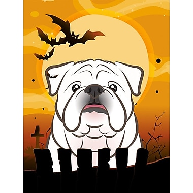 Caroline's Treasures Halloween 2-Sided Garden Flag; Bulldog