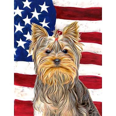 Caroline's Treasures American Flag 2-Sided Garden Flag; Yorkie 1