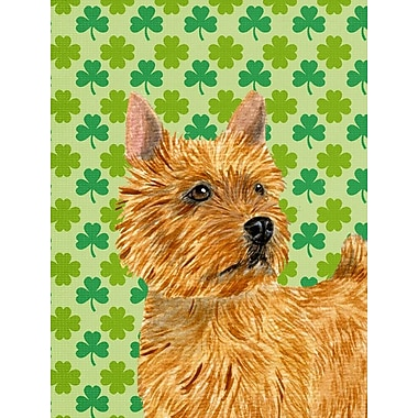 East Urban Home St. Patrick's Day Shamrock 2-Sided Garden Flag; Norwich Terrier (Brown)