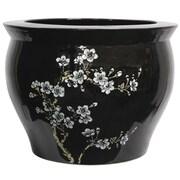 Bloomsbury Market Grecia Black Porcelain Flower Blossom Table Vase