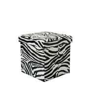 World Menagerie Makhi Folding Cube Storage Ottoman