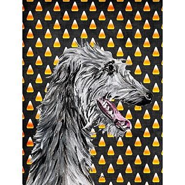 East Urban Home Candy Corn Halloween House Vertical Flag; Scottish Deerhound 2