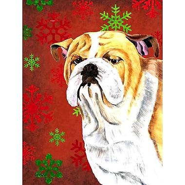 The Holiday Aisle Snowflakes Christmas House Vertical Flag; Bulldog (White & Yellow)