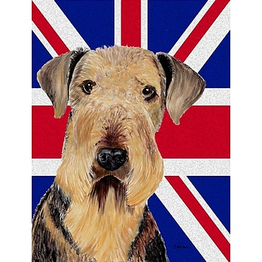 East Urban Home English Union Jack British Flag 2-Sided Garden Flag; Airedale (Tan)