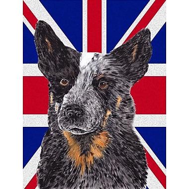 East Urban Home English Union Jack British Flag 2-Sided Garden Flag; Australian Cattle Dog (Black)