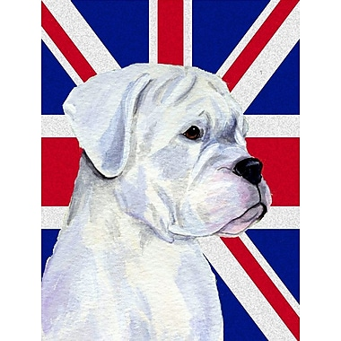 East Urban Home English Union Jack British Flag 2-Sided Garden Flag; Boxer (Gray )