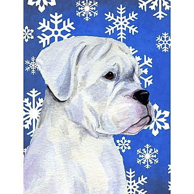 East Urban Home Winter Snowflakes Holiday 2-Sided Garden Flag; Boxer (Gray)