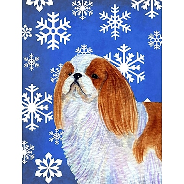 East Urban Home Winter Snowflakes Holiday 2-Sided Garden Flag; Cavalier Kings Charles Spaniel