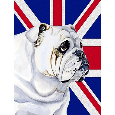 East Urban Home English Union Jack British Flag 2-Sided Garden Flag; Bulldog (White )
