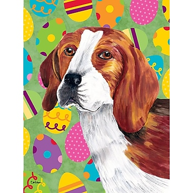 Caroline's Treasures Easter Eggtravaganza 2-Sided Garden Flag; Beagle