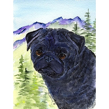 East Urban Home Dog and Mountain 2-Sided Garden Flag; Pug