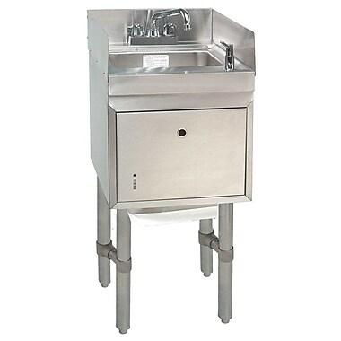 Advance Tabco Free Standing Handwash Utility Sink; 32.88'' H x 15'' L x 21'' W