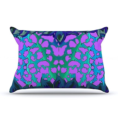 East Urban Home Nina May 'Cerruda Orchid' Pillow Case; Teal