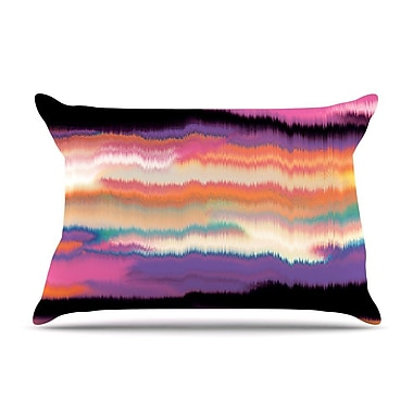 East Urban Home Nina May 'Artika' Pillow Case; Purple/Orange