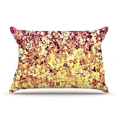 East Urban Home Ebi Emporium 'Flower Power' Pillow Case; Yellow/Orange